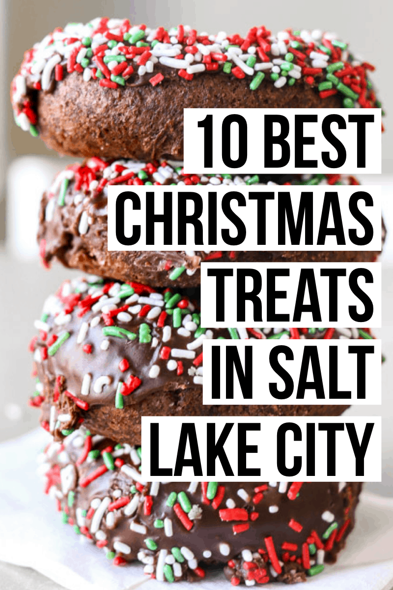 The ultimate guide to the best Christmas treats in Salt Lake City! From hot chocolate to holiday cookies, these are the best holiday desserts in SLC.