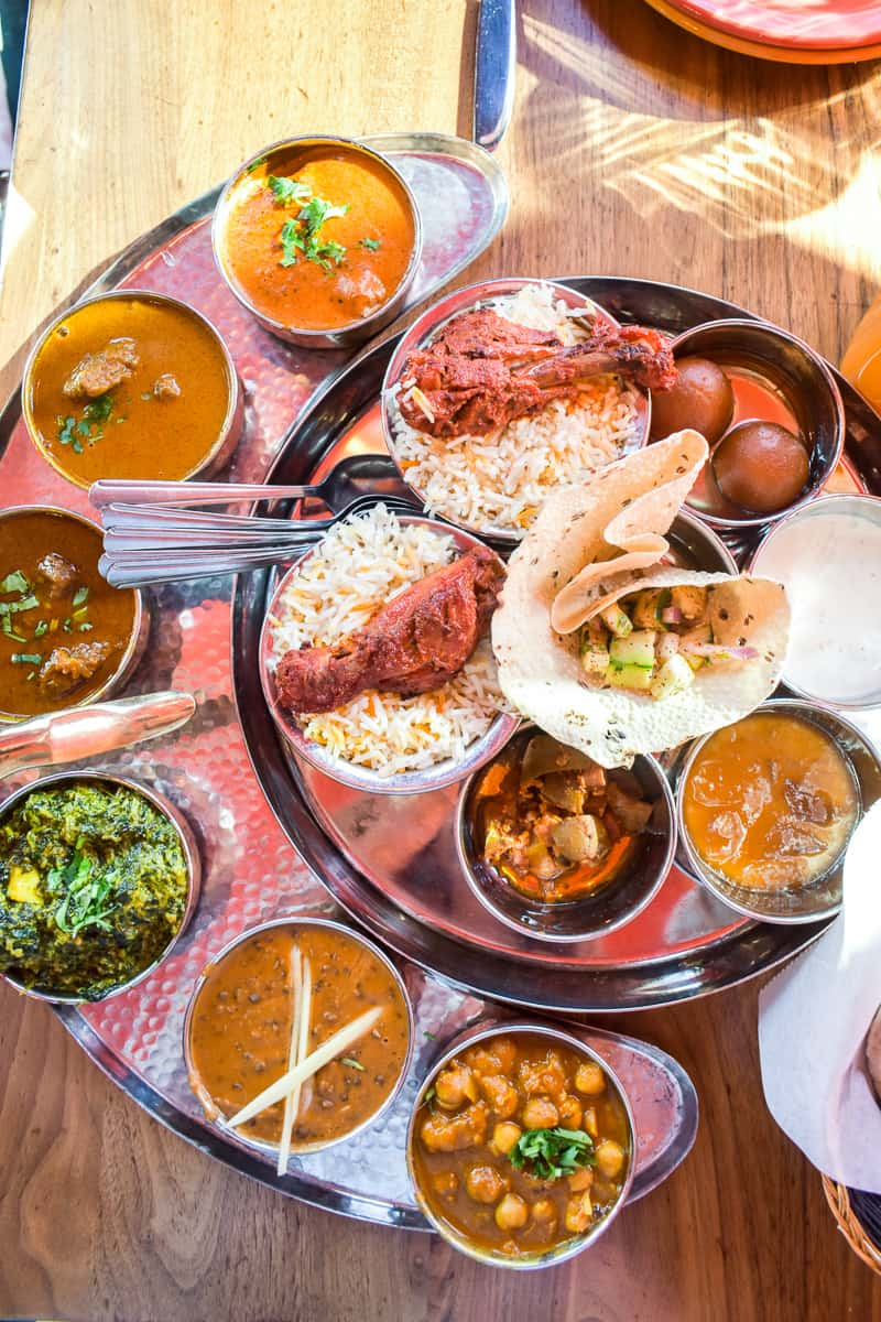 platter for two Bombay Thali at Bombay Street Food 2