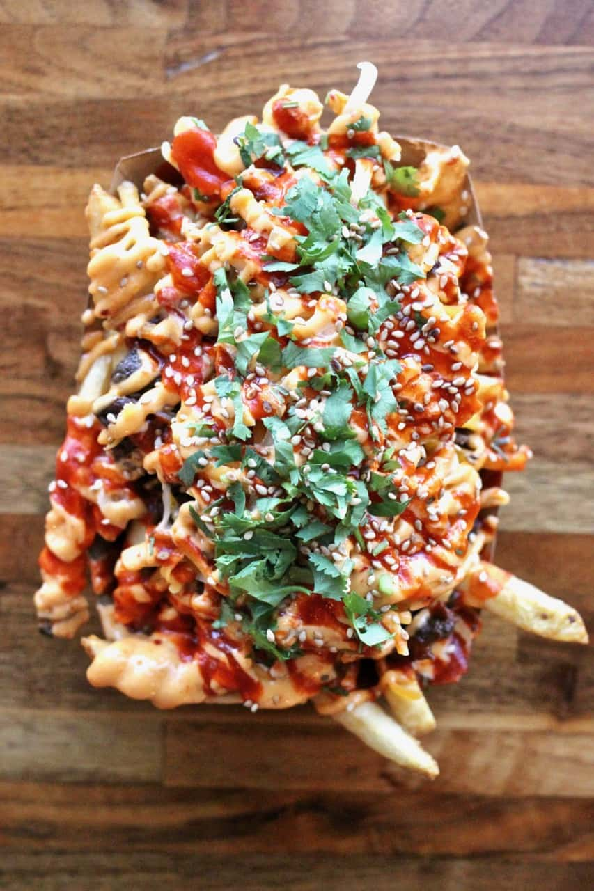 Kimchee fries from Chilantro at The Domain in Austin
