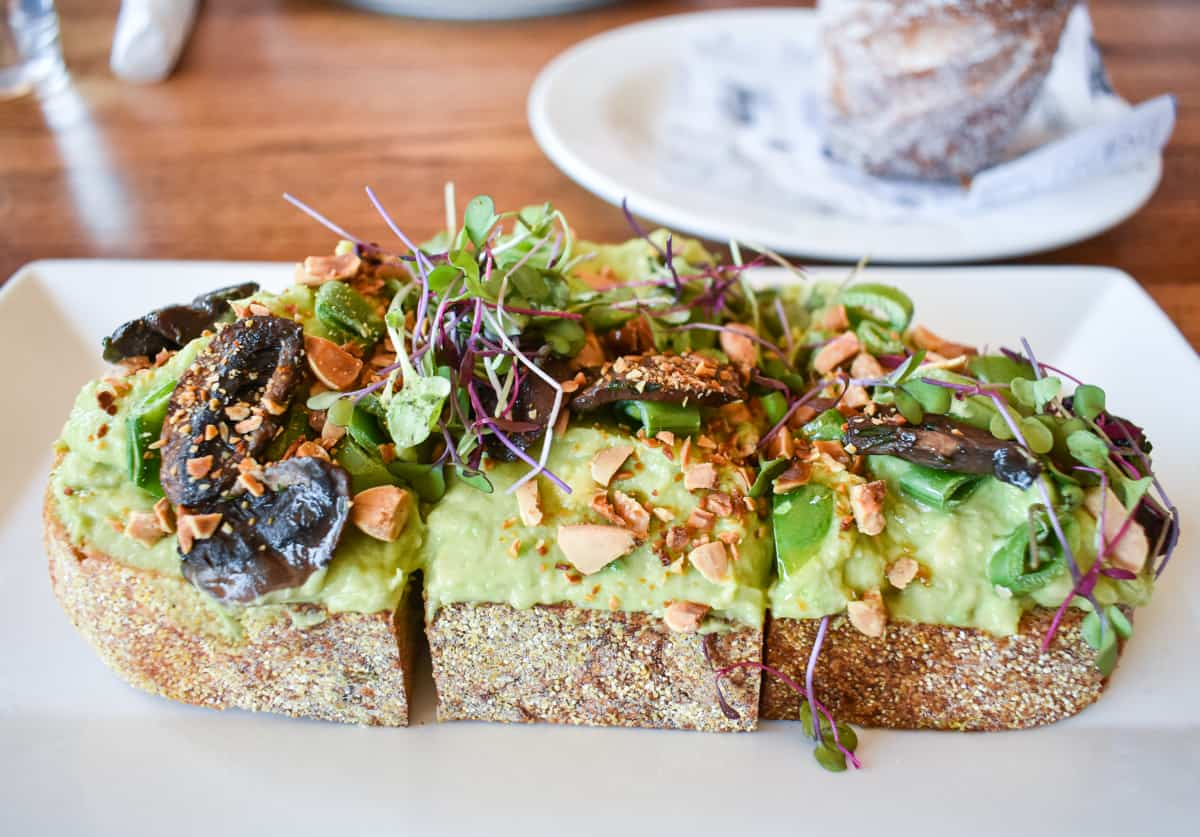 avocado toast from Junction Bistro, Bar, and Bakery