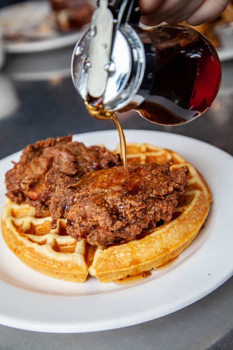 chicken and waffles from Skillet