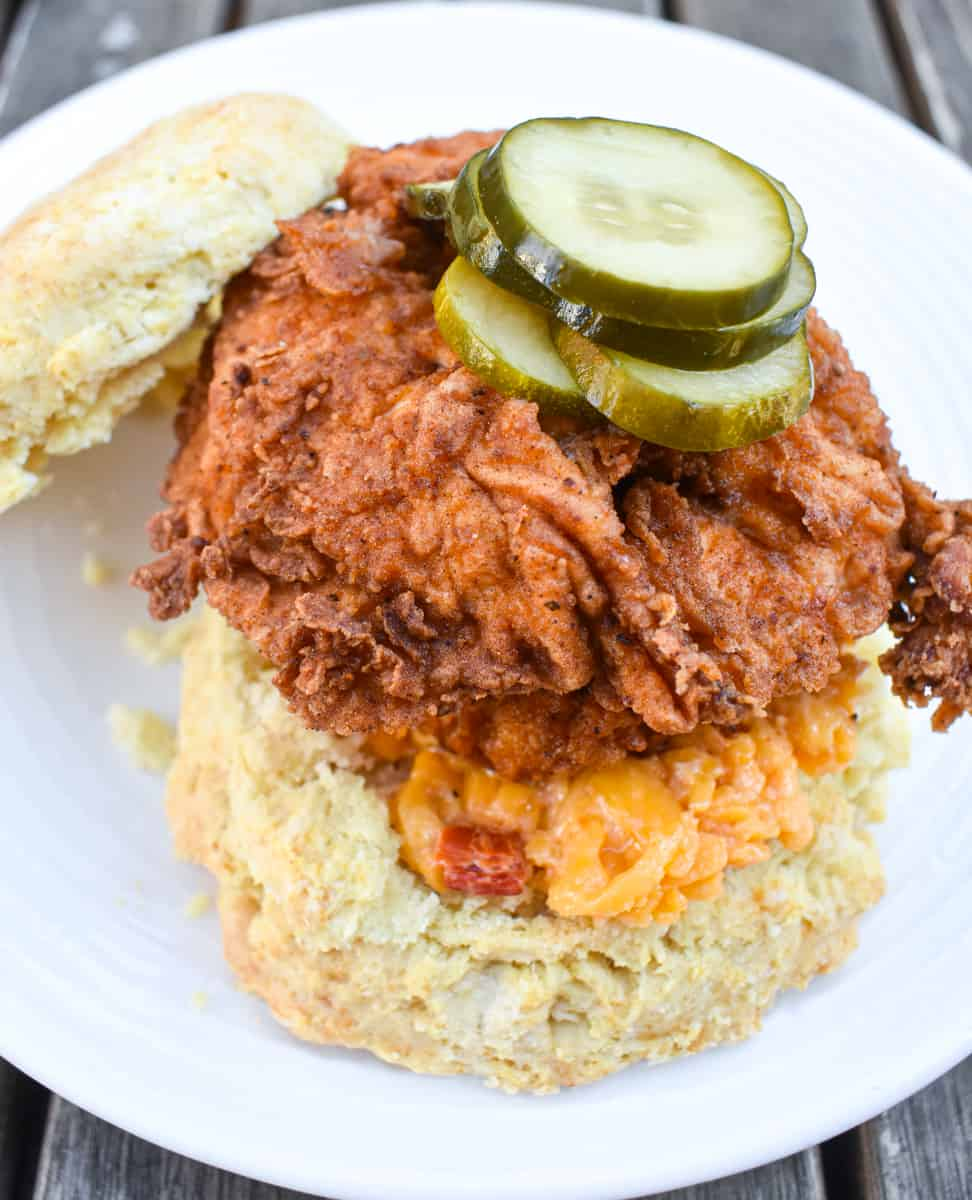 fried chicken sandwich from Stomping Ground