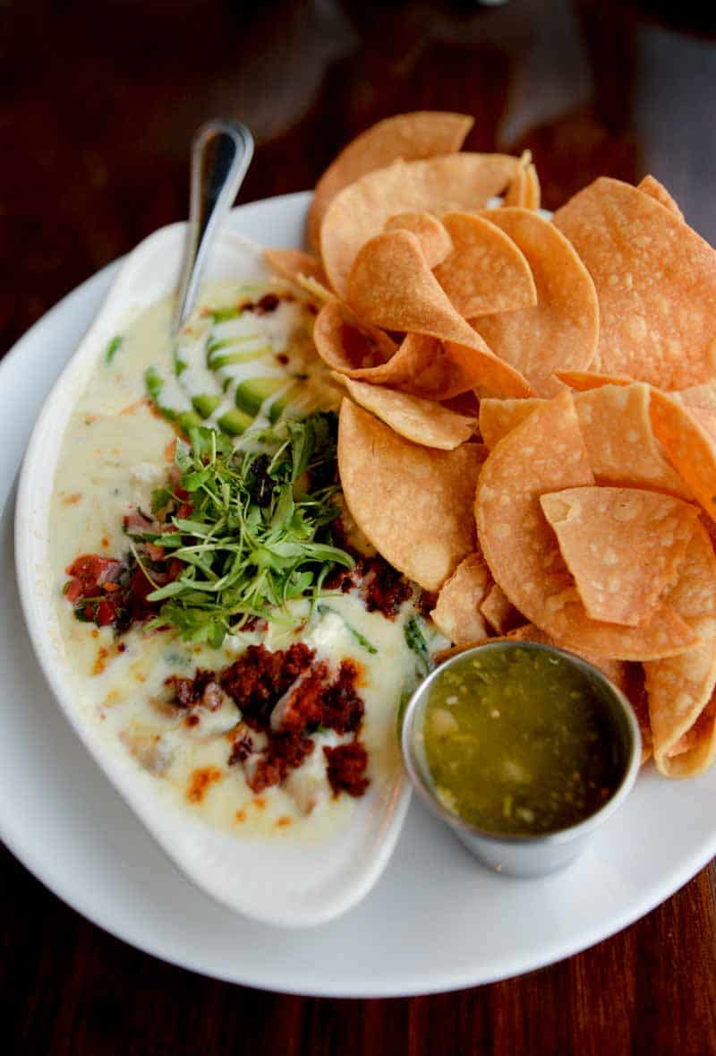 queso fundido from Barrio Cafe