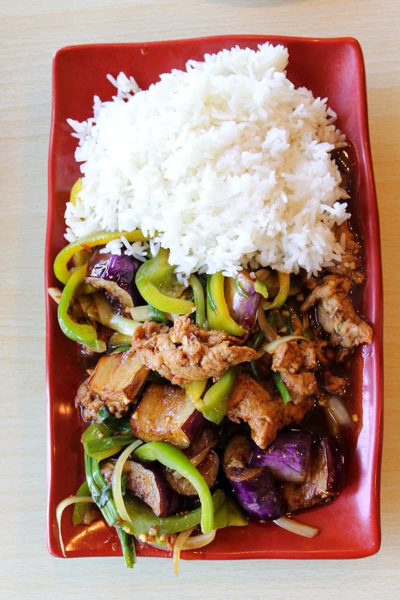 Asian food from Veggie House