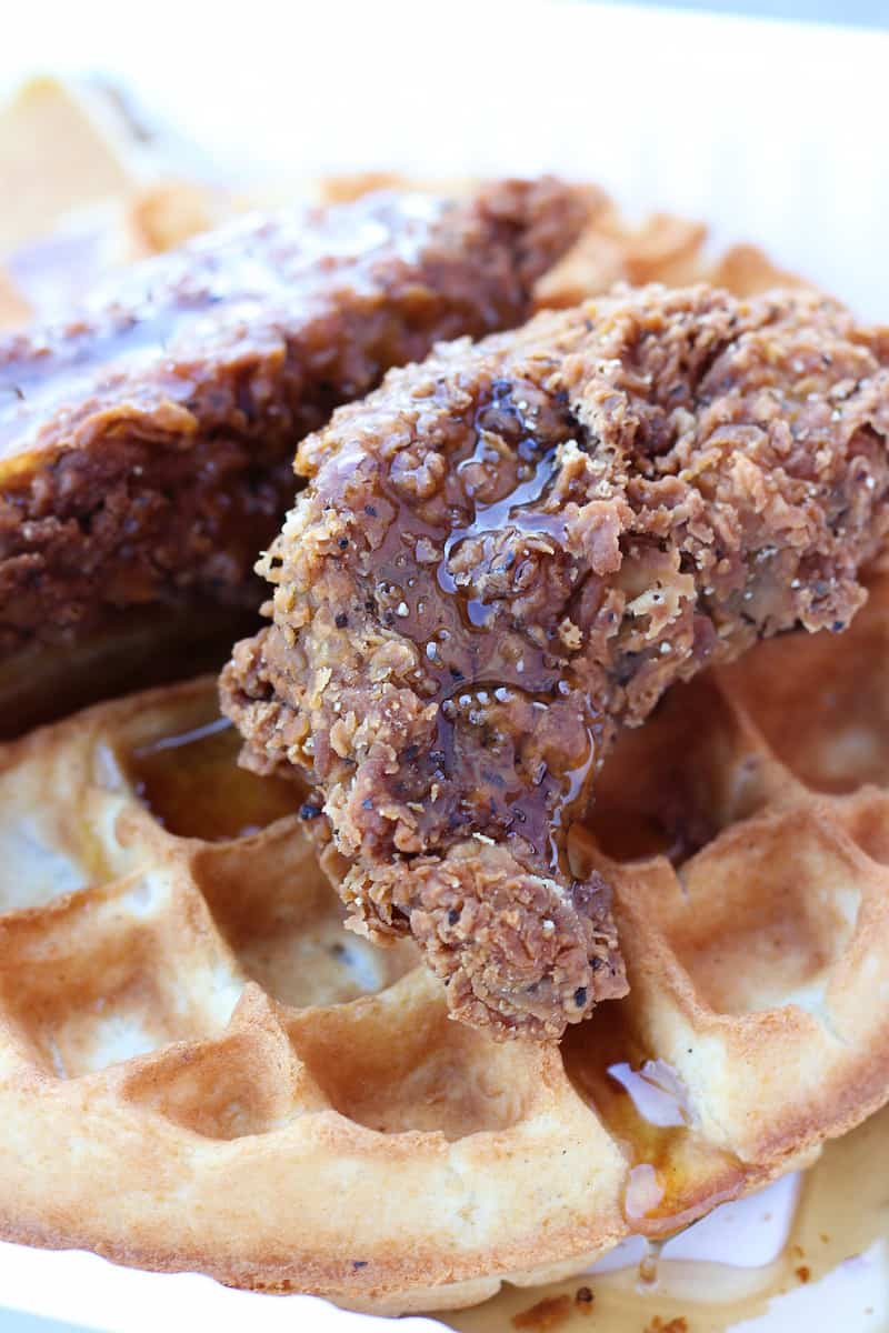 chick'n and waffles from Mark of the Beastro