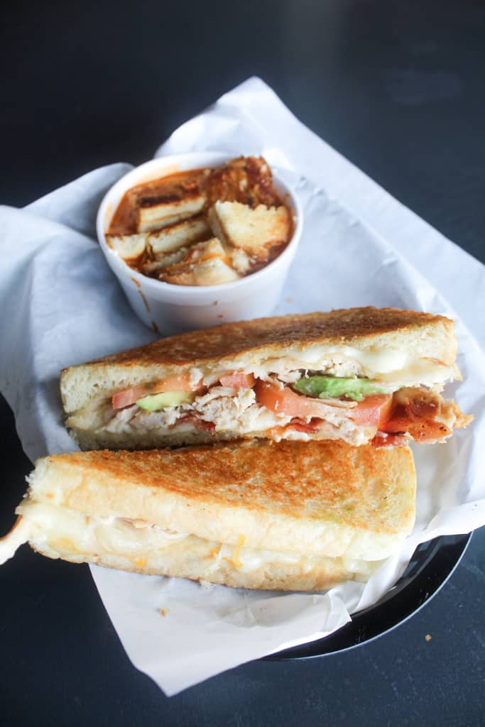 soup and sandwich from Craving's Bistro
