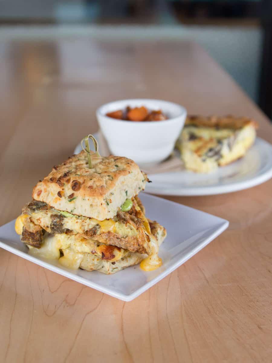 breakfast sandwich from Smack Dab