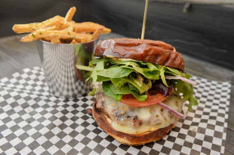 burger from The Attic Ale House