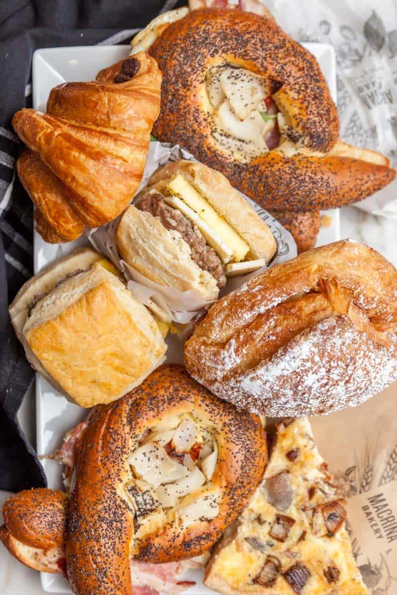 pastries from Macrina Bakery