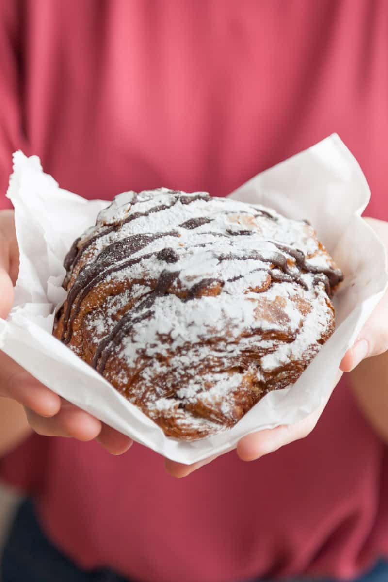 twice-baked chocolate almond croissant from Fresh Flours