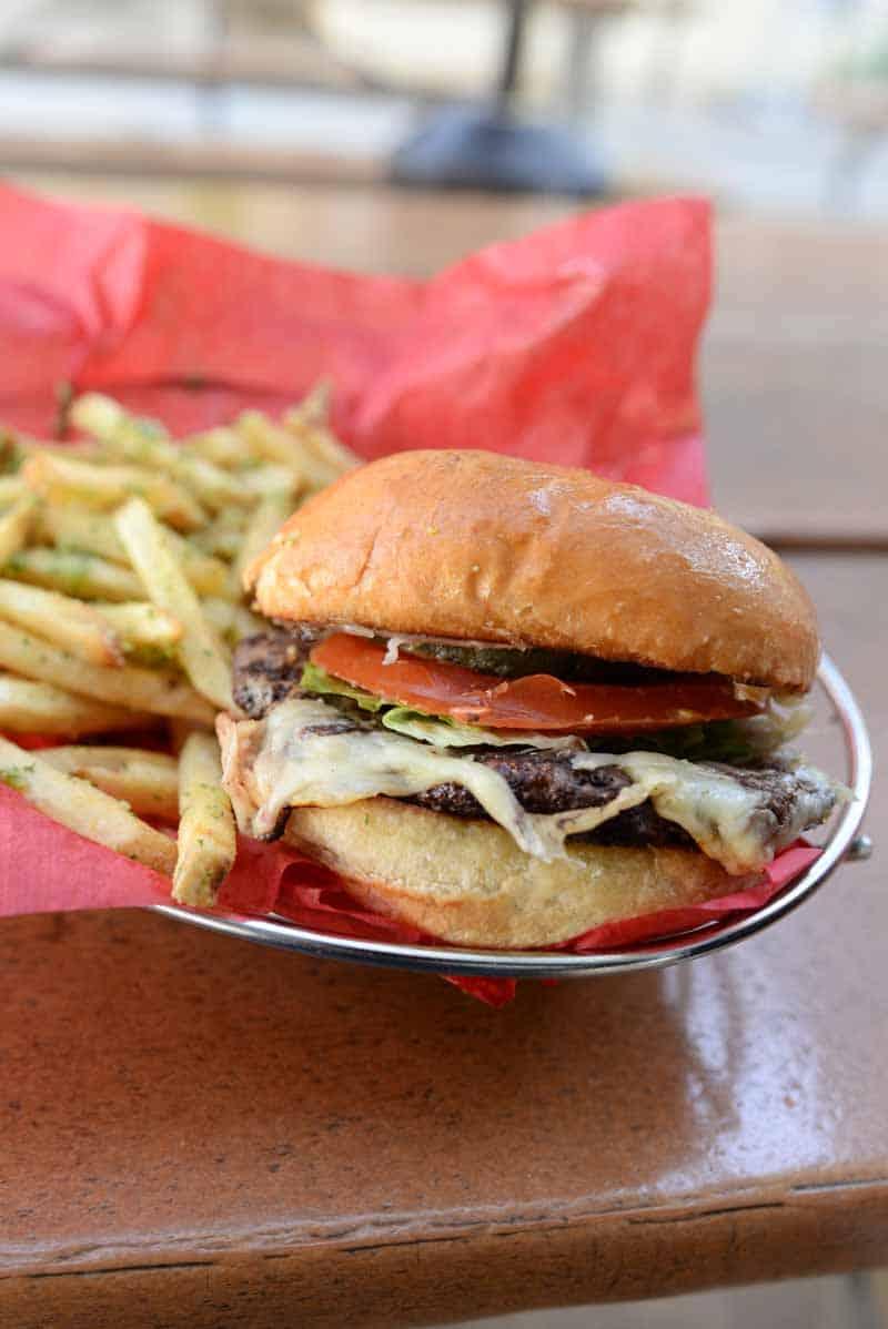 burger from Joe's Farm Grill