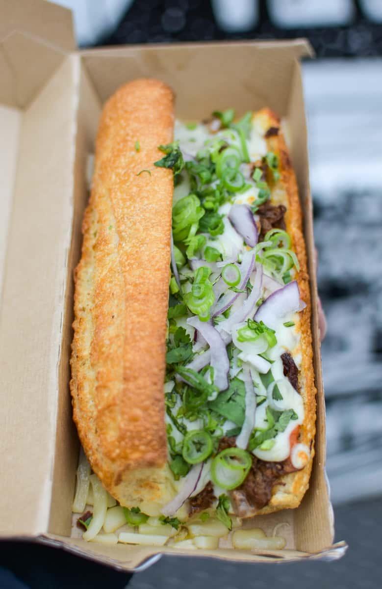 Vietnamese sandwich from Pho Wheels