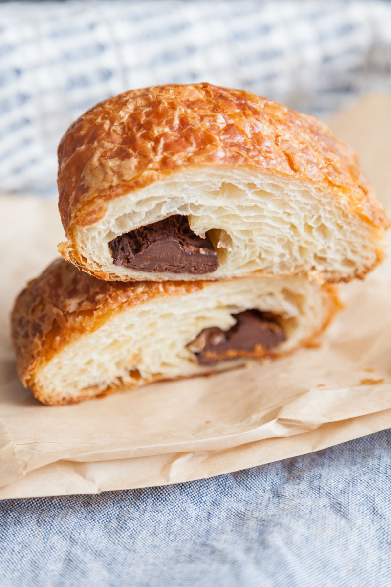 chocolate croissant from Sea Wolf Bakers