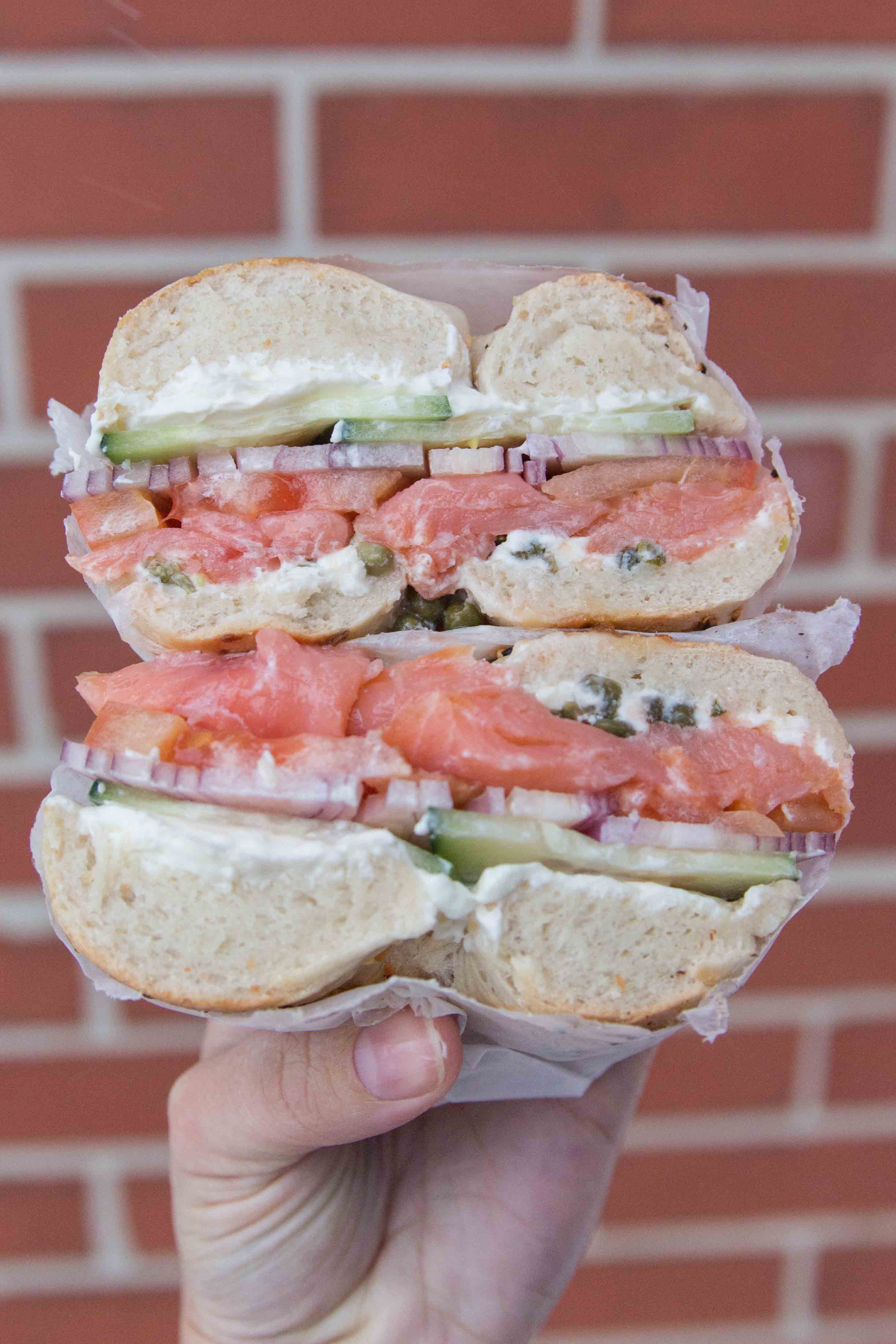 sandwich from New York Bagel & Bialy