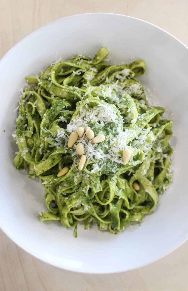 pesto pasta from Mastra