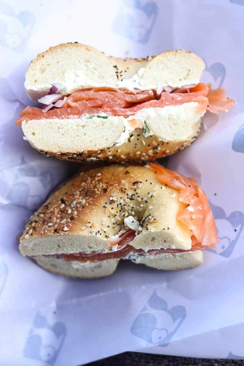 bagel from Russ & Daughters