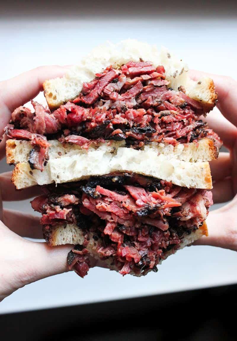 sandwich from Pastrami Queen