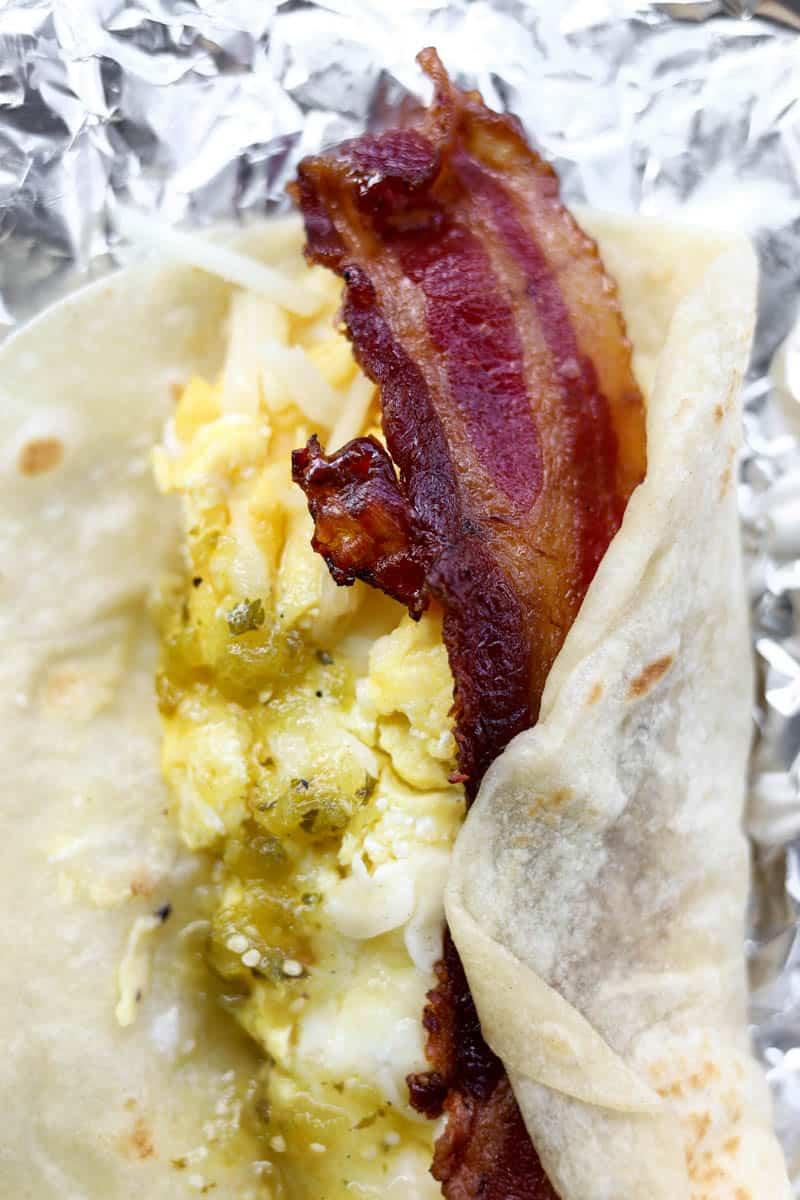 breakfast taco from La Barba Coffee and Breakfast Tacos