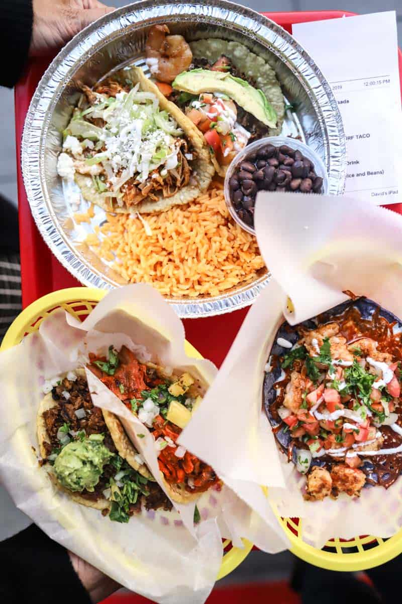 tacos and food from Maize