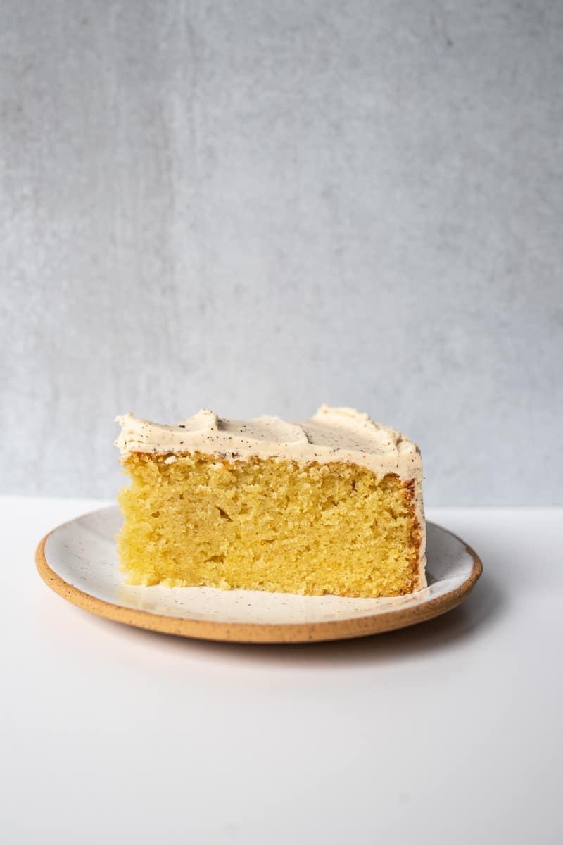 slice of olive oil cake